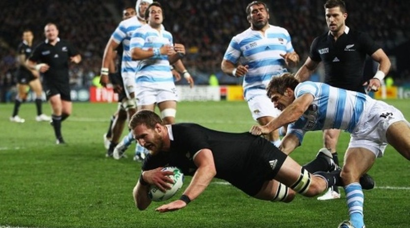 Матч Новая Зеландия - Аргентина. Фото rugbyworldcup.com