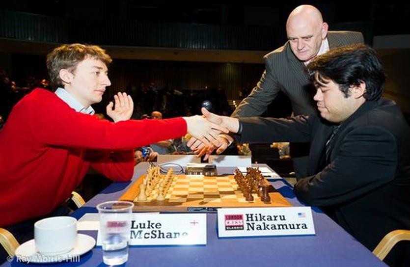 Люк Макшейн и Хикару Накамура, chess.com