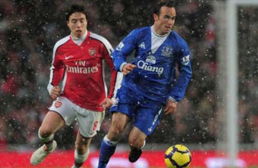 Лендон Донован в игре против Арсенала, goal.com