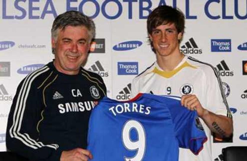 Анчелотти и Торрес, goal.com