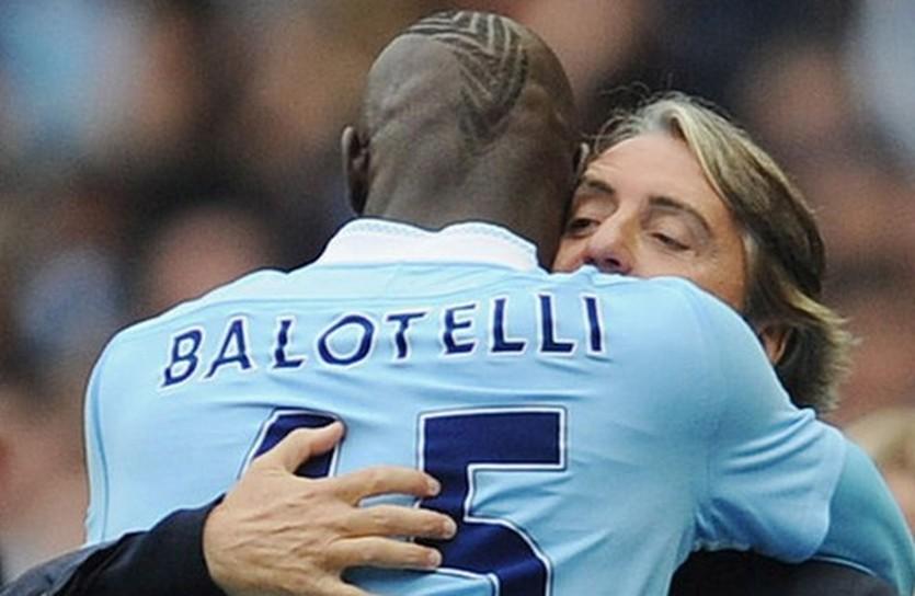 Балотелли и Манчини, skysports.com