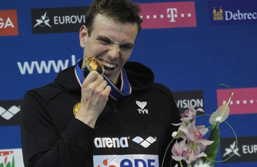 Победитель 400-метровки вольным стилем Пауль Бидерманн, Getty Images