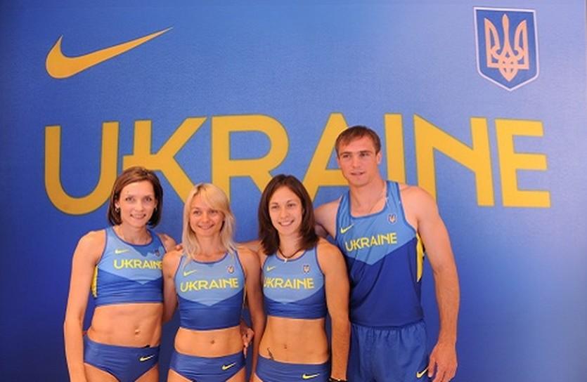 Украинские спортсмены в новой форме. Фото Nike