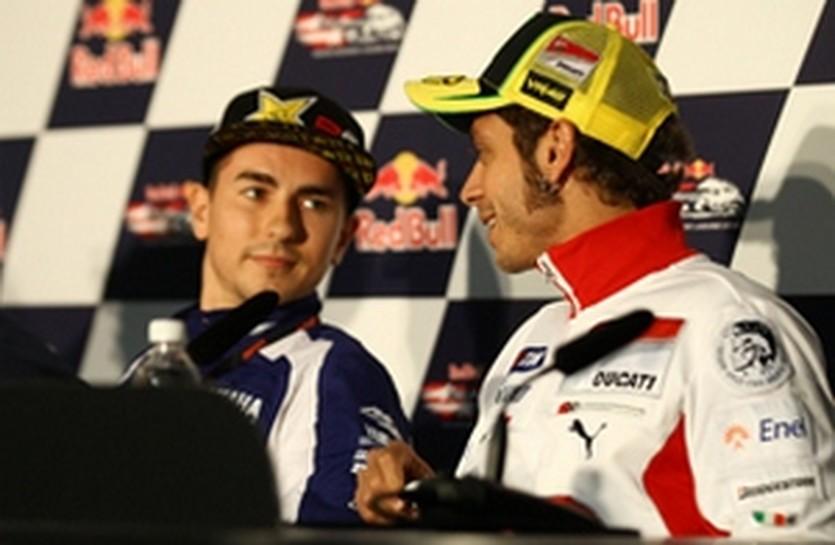 Лоренсо и Росси, autosport.com