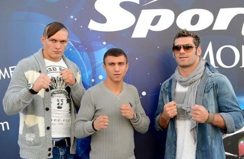 Александр Усик, Василий Ломаченко, Клементе Руссо (слева направо), facebook.com