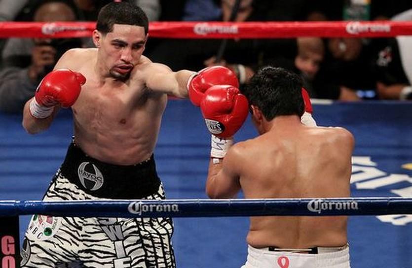 Дэнни Гарсия (слева) и Эрик Моралес, Getty Images