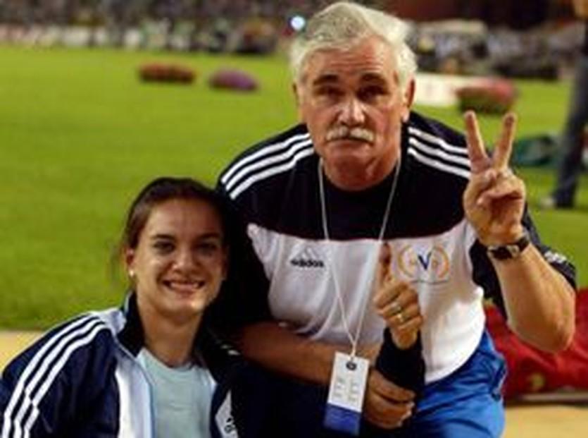Исинбаева и ее тренер, sovsport.ru