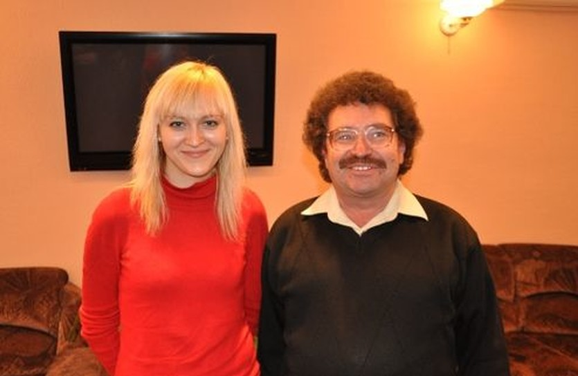 Анна Ушенина и ее тренер и менеджер Геннадий Круговой, chessnest.com