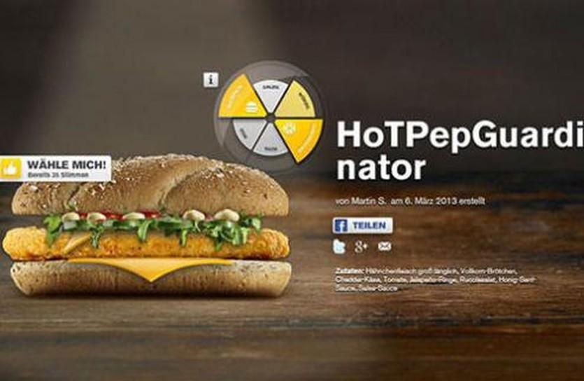 В Германии McDonalds назвал сэндвич в честь Гвардиолы