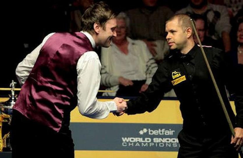Уолден (слева) и Хоукинс, фото worldsnooker.com