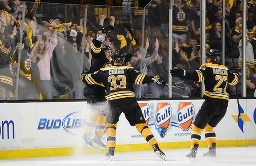 Радость Бостона после победного гола Брэда Марчанда, Getty Images