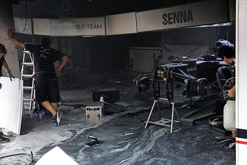Сгоревшие боксы Уильямса, Getty Images