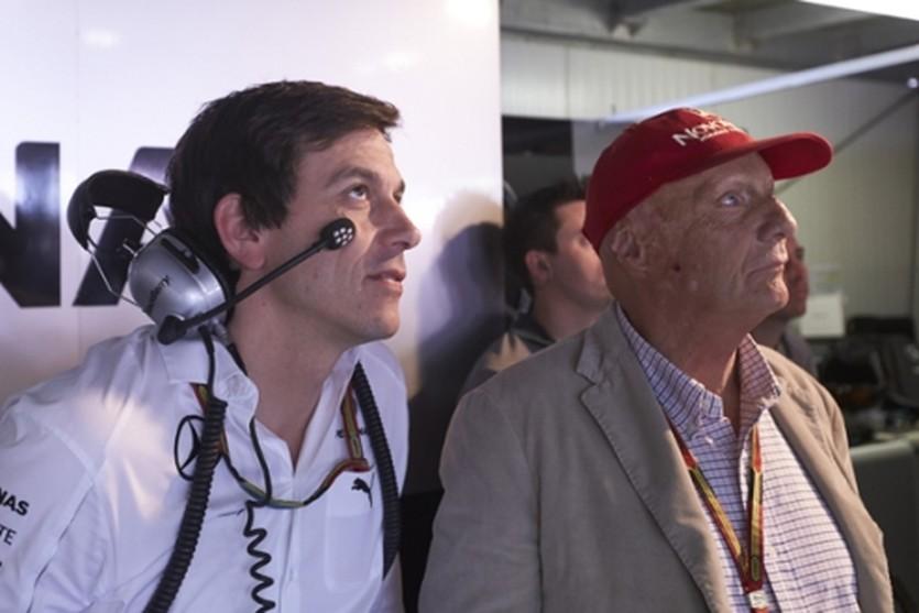Тото Вольф и Ники Лауда, Getty Images