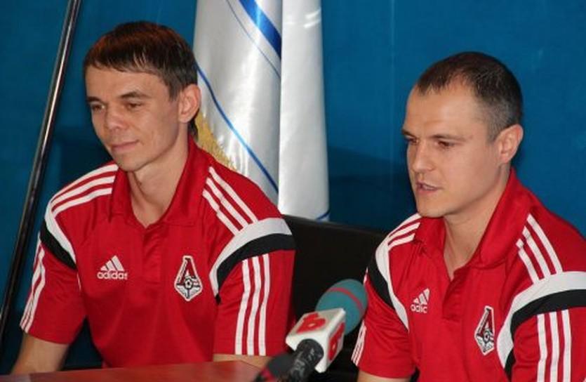 Денис Овсянников и Дмитрий Бондарь, фото МФК Локомотив