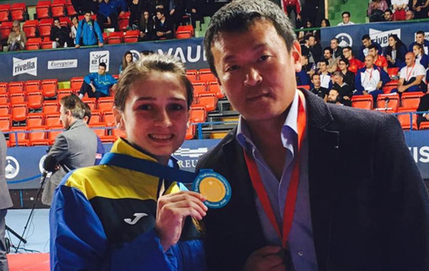 Ирина Ромолданова и ее тренер Олег Нам