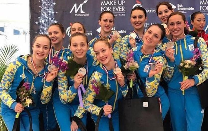 Украинские синхронистки выиграли три медали в последний день этапа Мировой серии в Париже